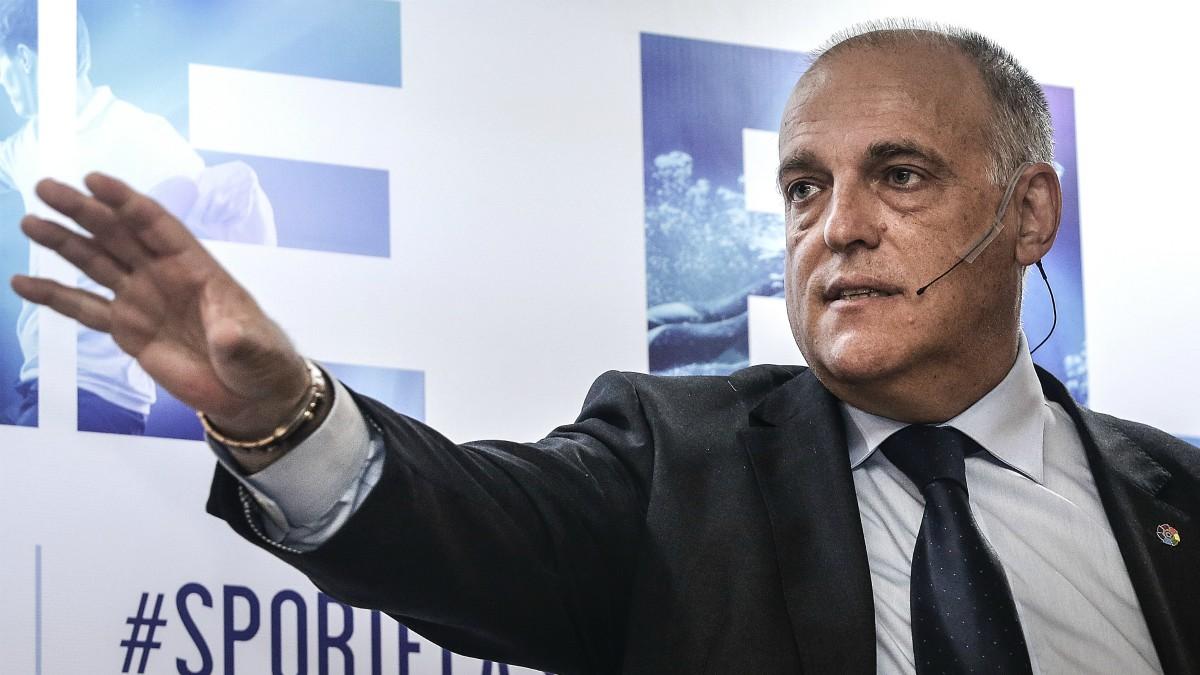 Javier Tebas, en una foto de archivo. (Getty)