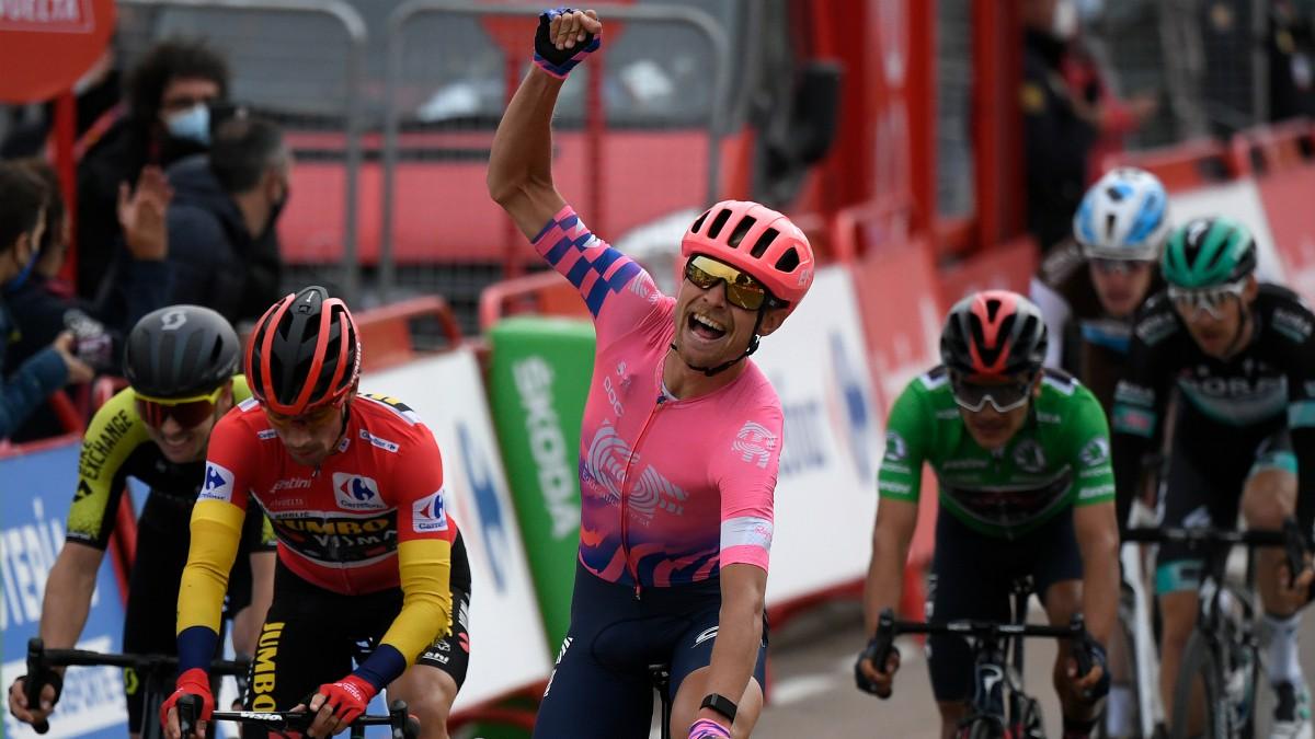 Magnus Cort Nielsen ganó su tercera etapa en La Vuelta. (AFP)