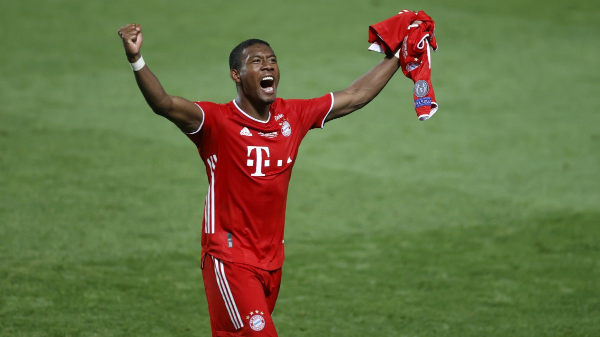 David Alaba celebra el título de Champions League con el Bayern de Múnich. (Getty)