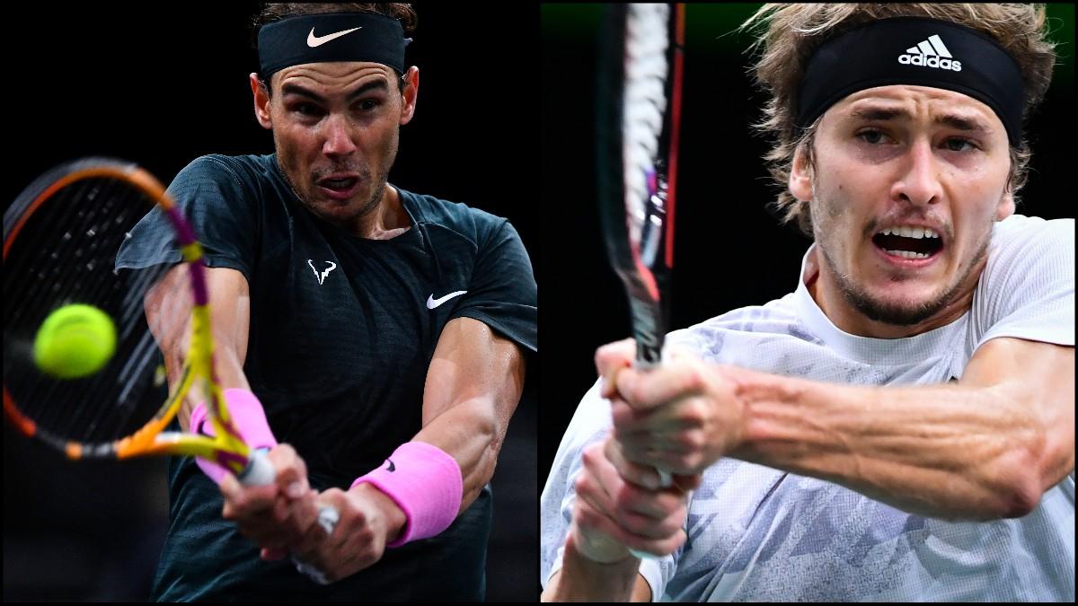 Nadal vs Zverev: Horario de las semifinales de París-Bercy. (AFP)