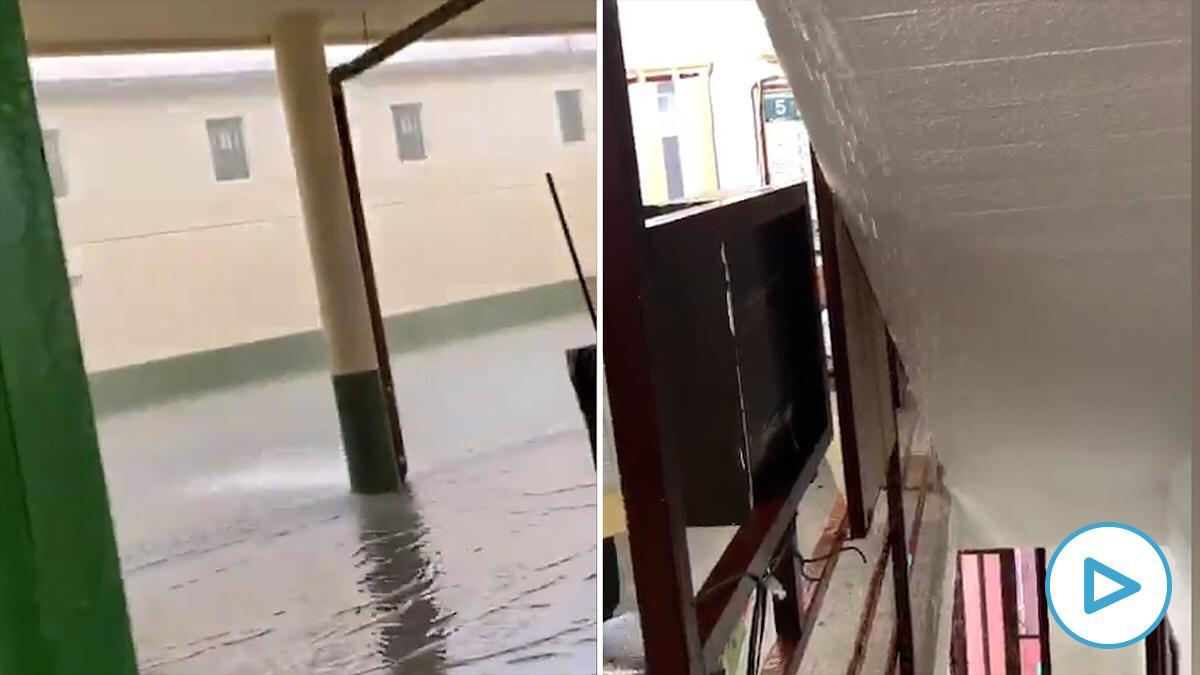 Vídeos de las instalaciones de la cárcel de Picassent inundadas durante la tromba de agua en Valencia