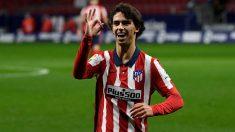 Joao Félix celebra su gol en el Atlético de Madrid-Cádiz. (AFP)