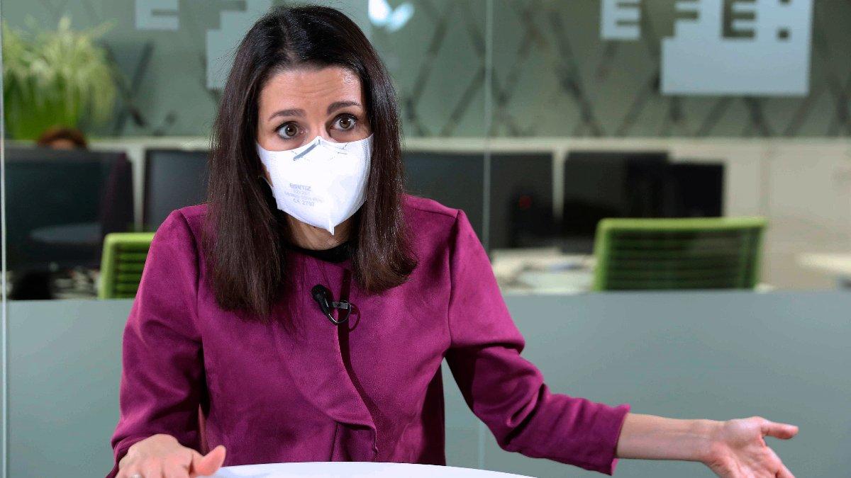 La líder de Ciudadanos, Inés Arrimadas, durante una entrevista con EFE