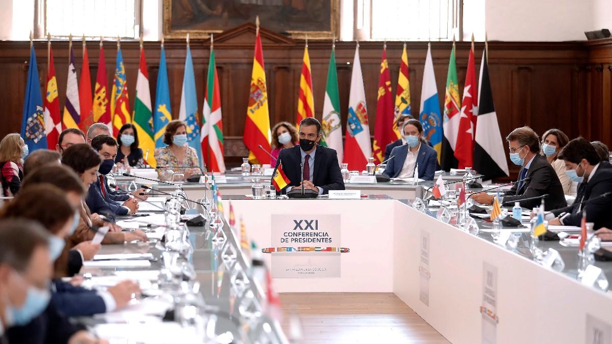 El presidente del Gobierno, Pedro Sánchez, preside la XXI Conferencia de Presidentes. Foto EP
