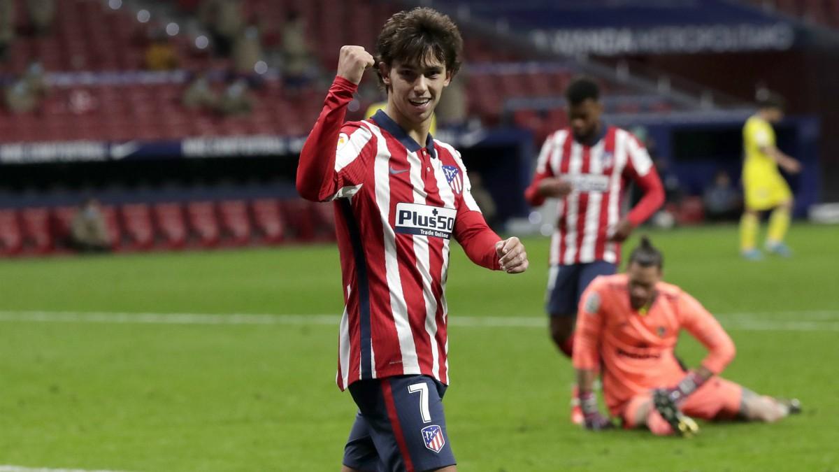 Joao Félix celebra uno de sus goles en el Atlético de Madrid-Cádiz. (Getty)