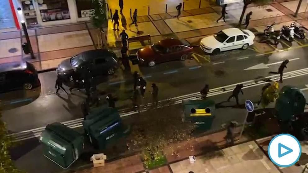 Disturbios en el barrio pamplonés de la Rochapea.