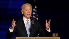 Primer discurso a la nación de Biden ganador.