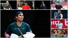 Los ocho candidatos a maestros en Londres. (AFP)