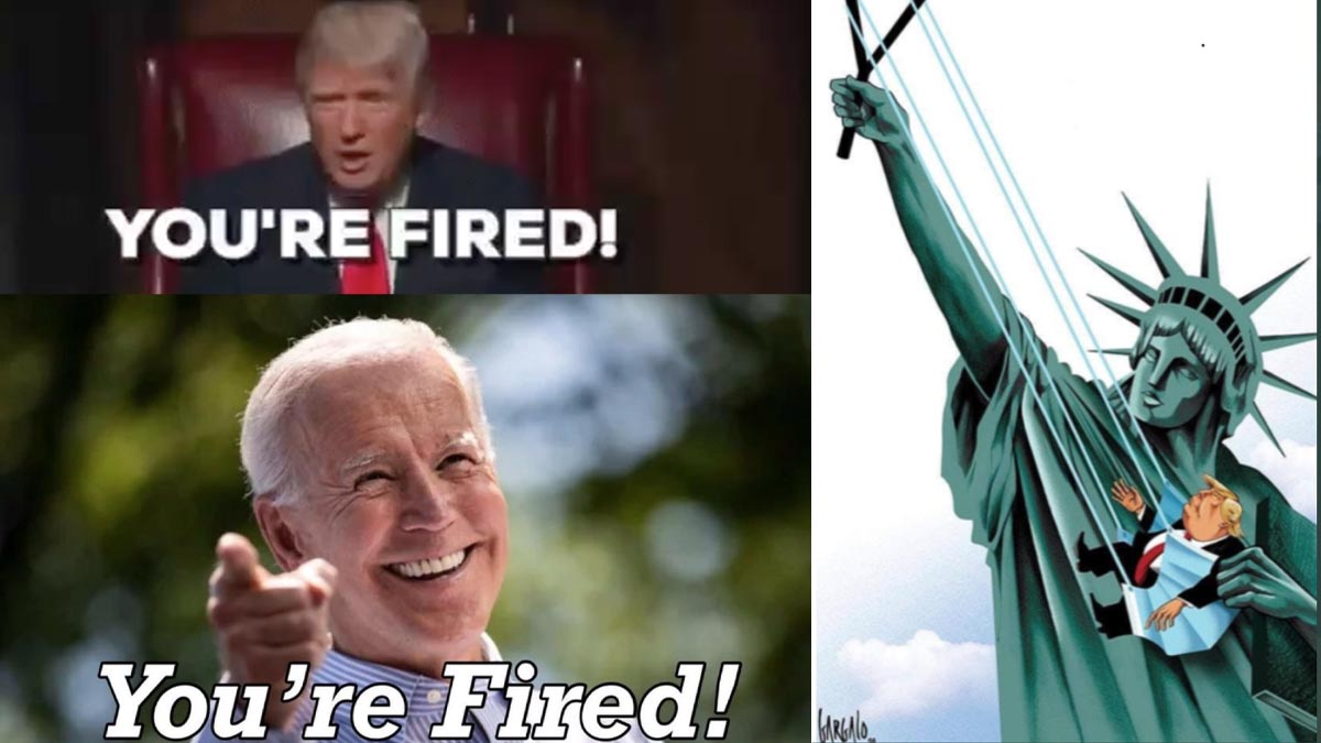 Algunos de los memes compartidos en redes con el grito de guerra de Trump que ahora se vuelve en su contra: «¡Estás despedido!»