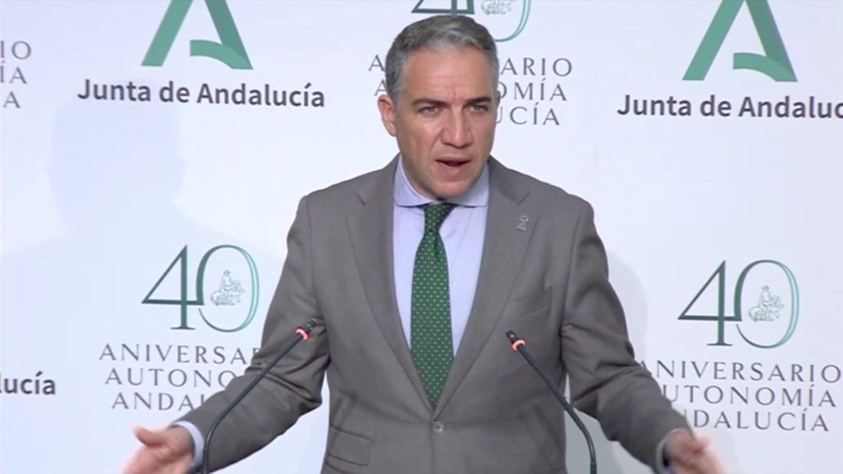 Elías Bendodo, consejero de Presidencia de la Junta de Andalucía.