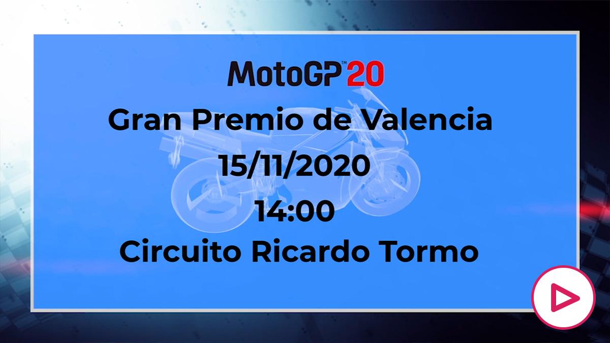 GP de la Comunidad Valenciana de MotoGP 2020: Horario y cómo ver por televisión el Gran Premio de la Comunidad Valenciana de MotoGP.