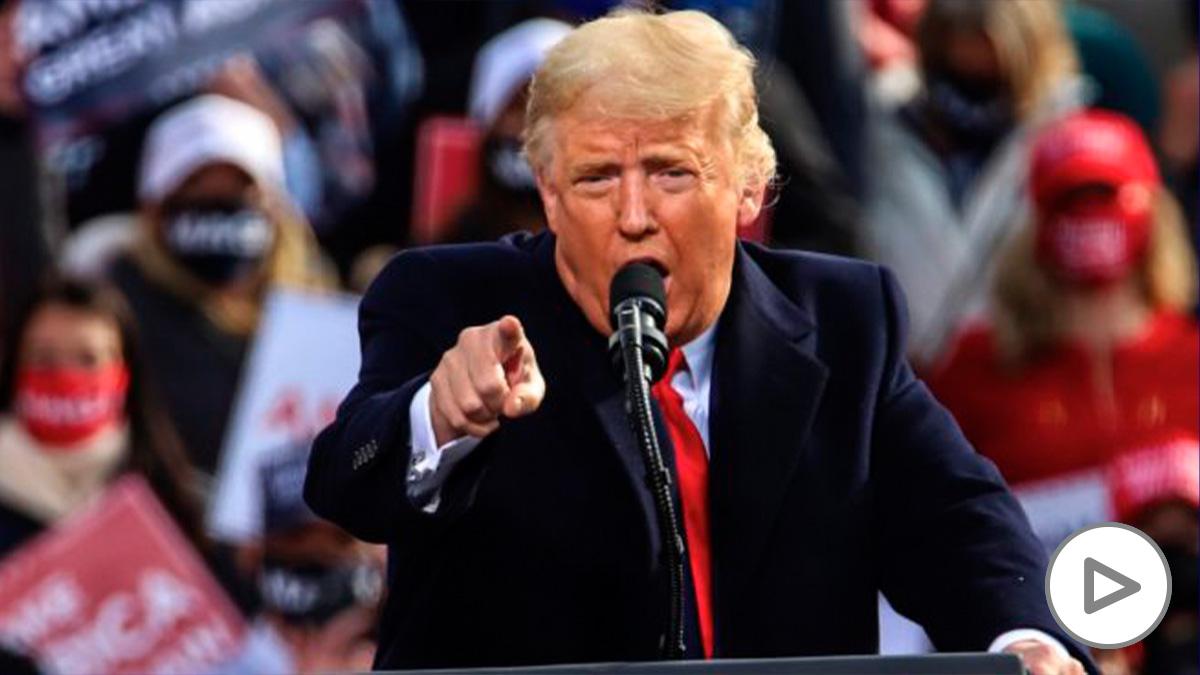 El presidente de Estados Unidos, Donald Trump, durante un mitin electoral. (Foto: EP)