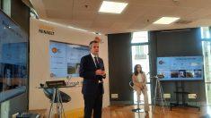 Lecerf y Arrossi en la presentación de Renault Bank