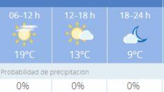 El tiempo en Granada: Previsión meteorológica de hoy, 11 de noviembre del 2020