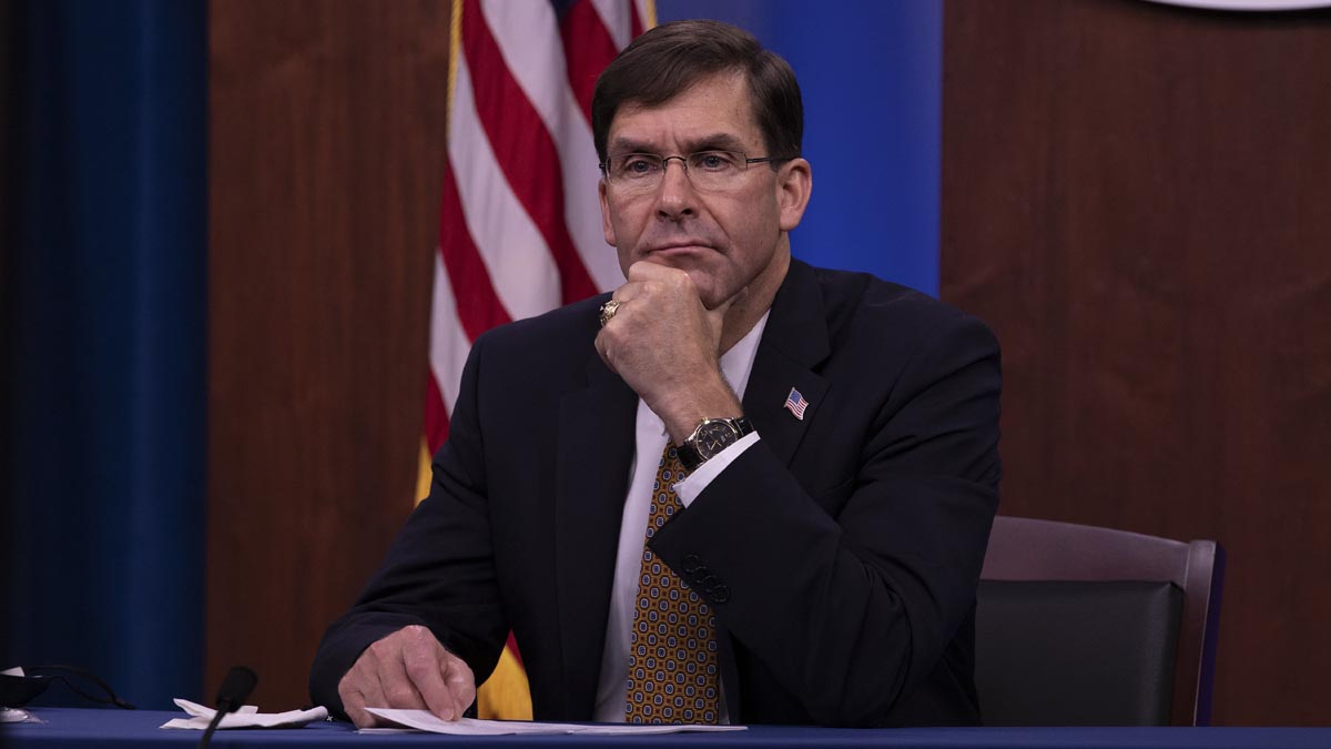 Mark Esper, ex secretario de Defensa cesado por Donald Trump. Foto: EP