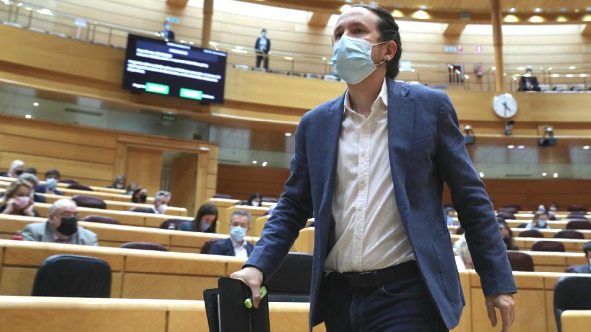 Pablo Iglesias, en el Senado. (Foto: Europa Press)