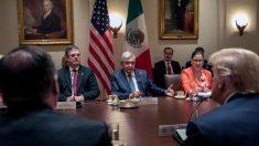 El presidente de México, Andrés Manuel López Obrador, durante su visita a la Casa Blanca en julio de 2020. Foto: EP