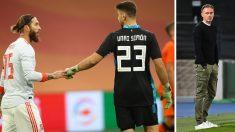 Luis Enrique, satisfecho tras el debut de Unai Simón con la selección (AFP)