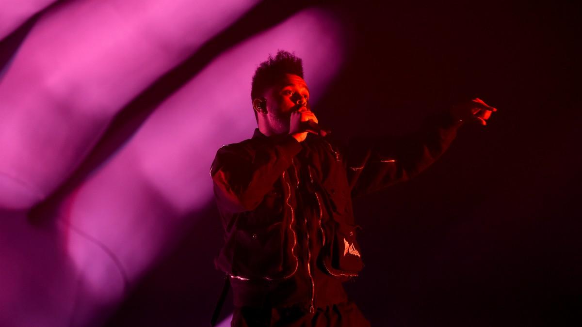 The Weeknd, en una actuación. (Getty)