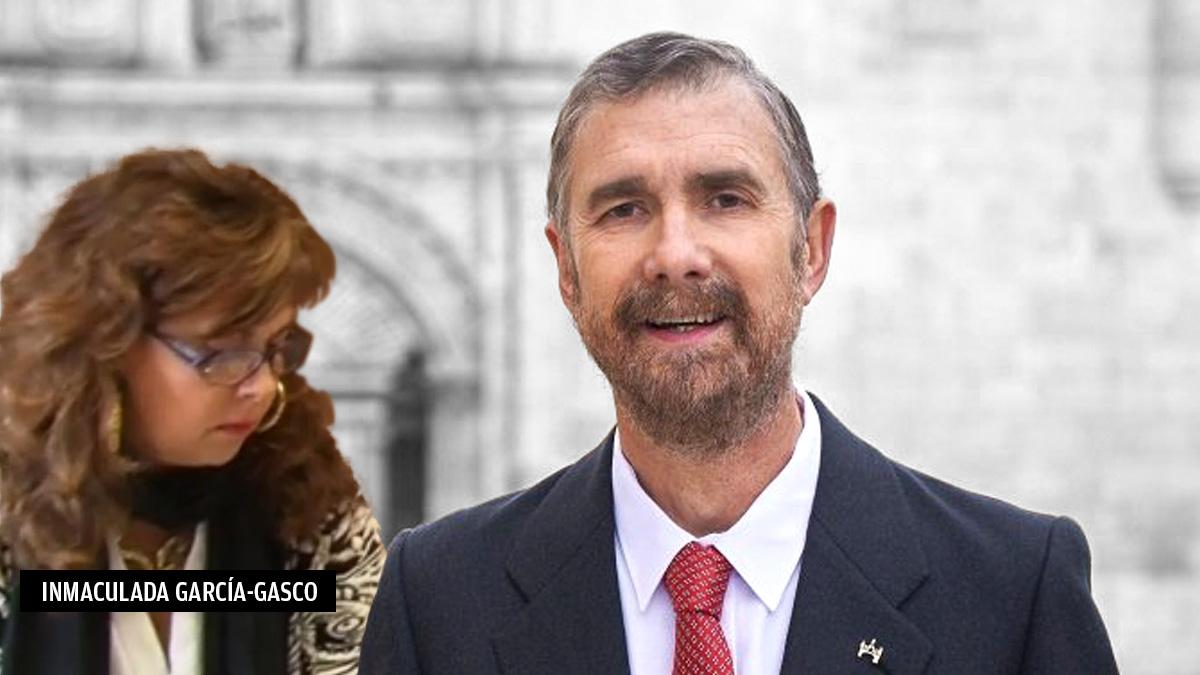 Manuel Pérez Mateos, rector de la Universidad de Burgos, junto a su pareja, Inmaculada García-Gasco.