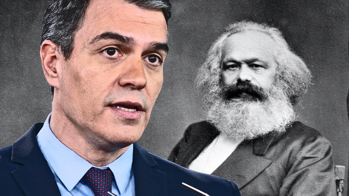 Pedro Sánchez y Karl Marx.