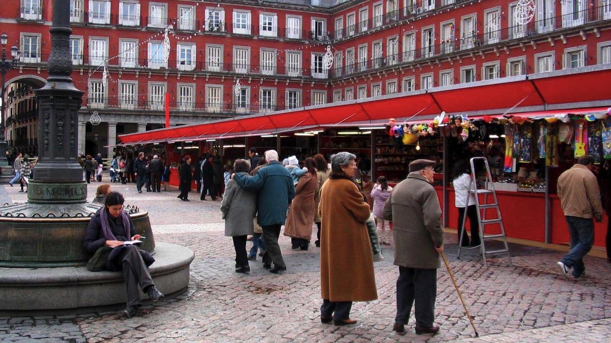 Mercadillo de Navidad en Madrid en años anteriores. (Foto: Madrid)