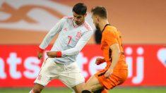 Morata en un partido ante Holanda. (AFP)