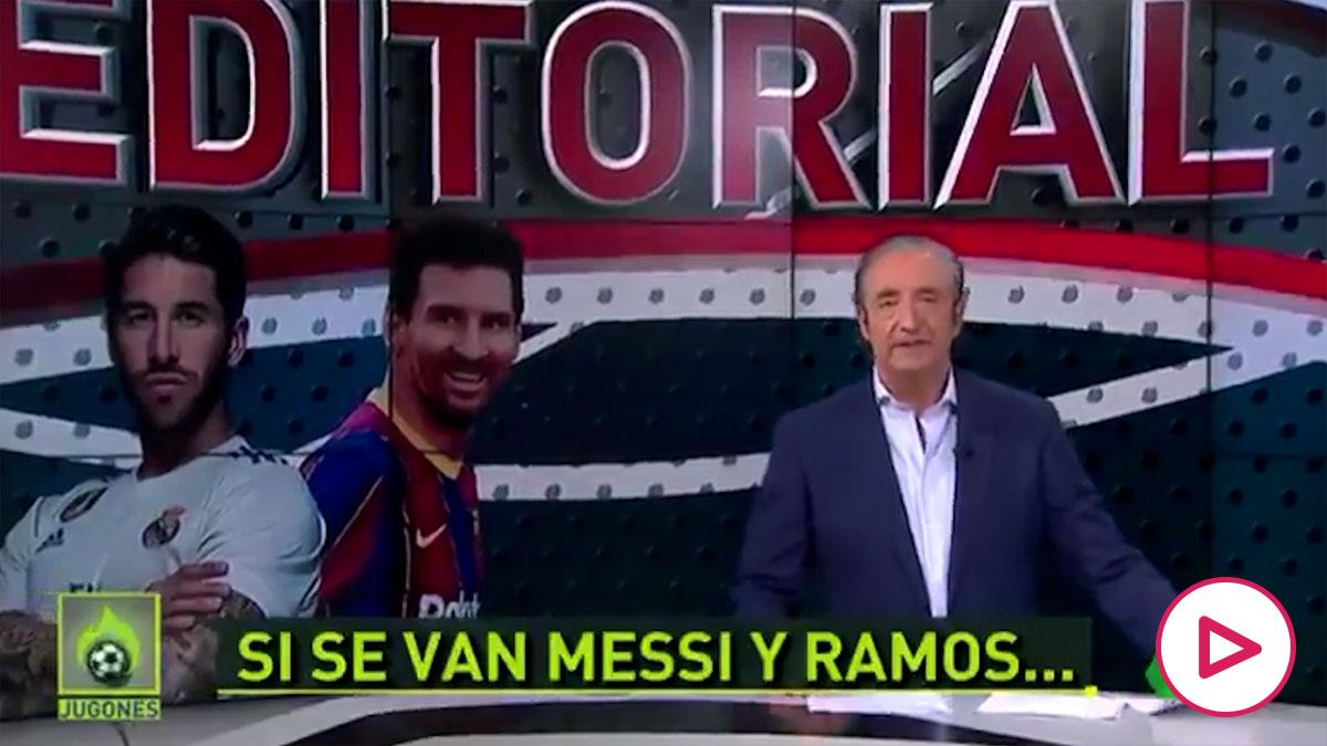 Pedrerol y su editorial (Vídeo: @elchiringuitotv)