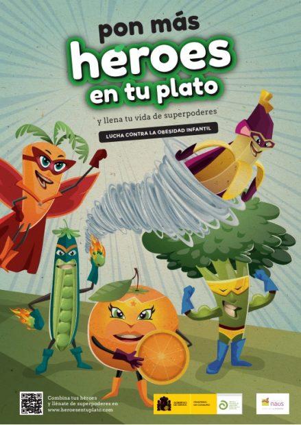 Pon más héroes en tu plato, la campaña de AESAN sobre nutrición saludable y prevención de la obesidad infantil