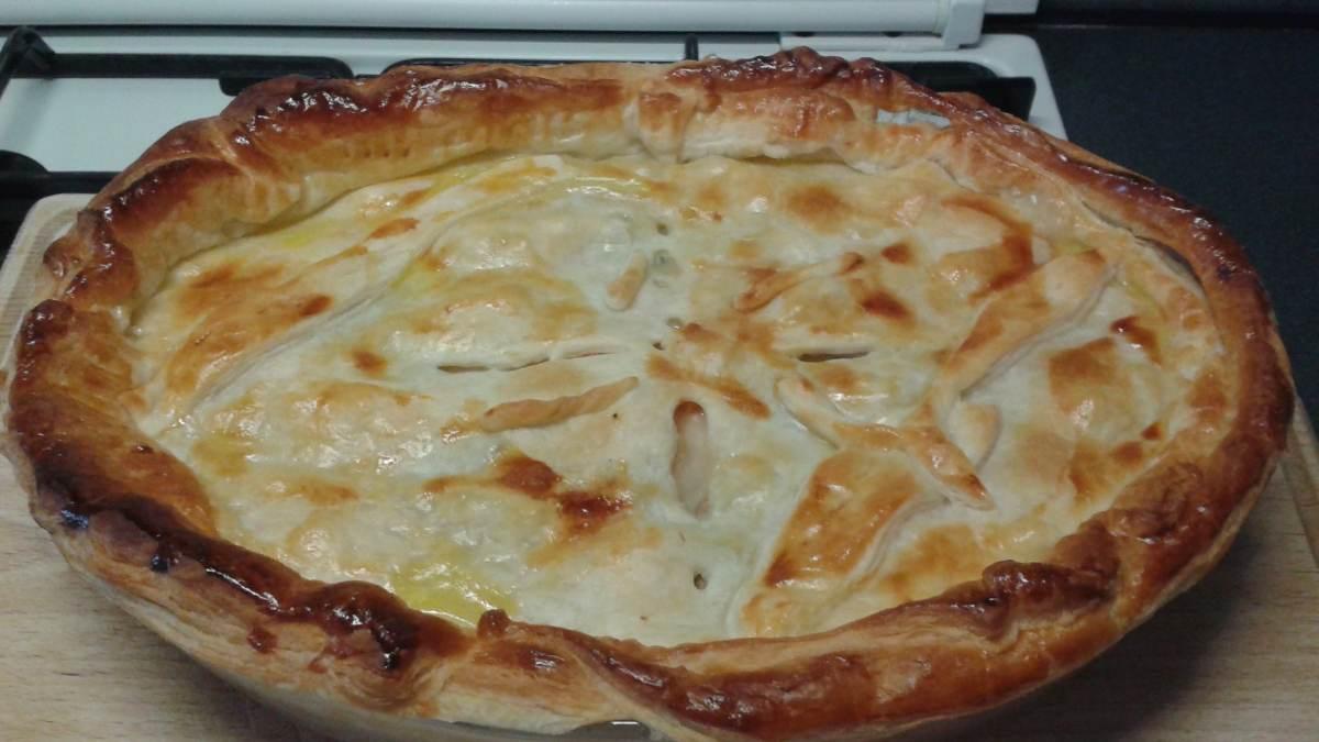 Receta de pizza caribeña con pollo