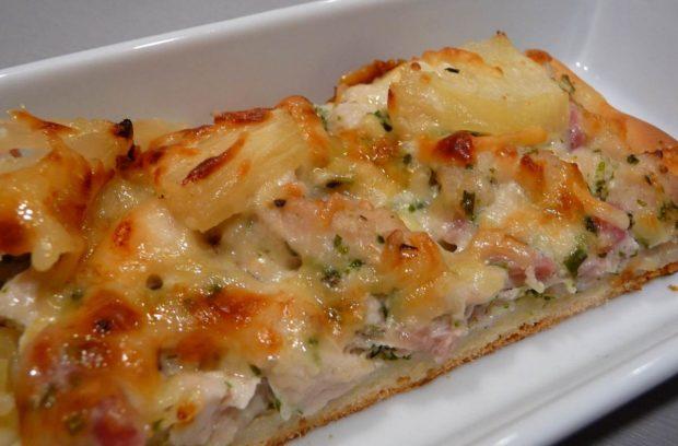 Pizza caribeña con pollo