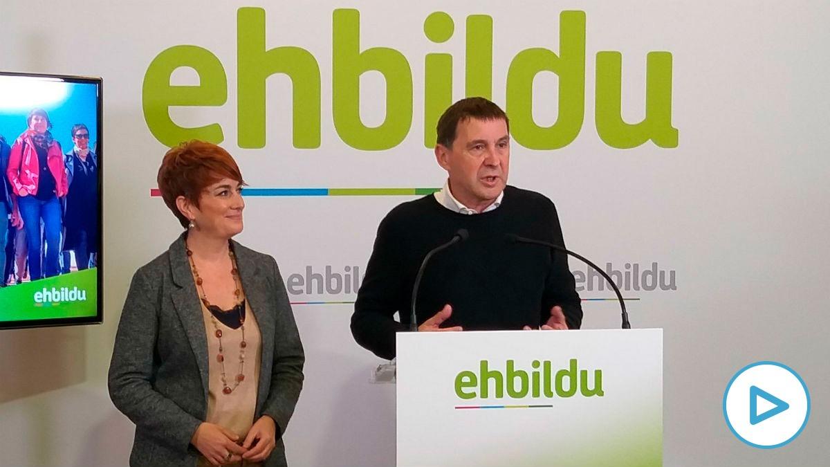 Bildu califica de «buena noticia» su acuerdo presupuestario con el Gobierno de la socialista Chivite en Navarra.