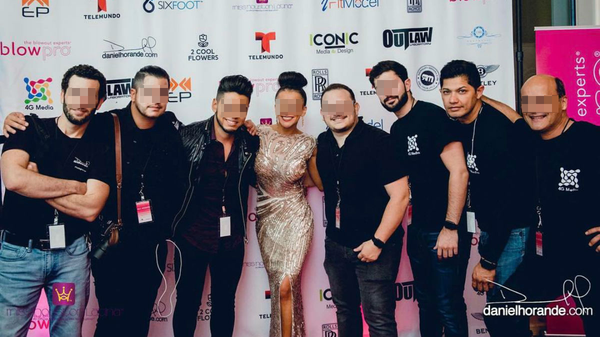 Brixio Jiménez (segundo por la derecha) participó en mayo de 2017 en Houston en un show organizado por el productor de televisión Diego González.
