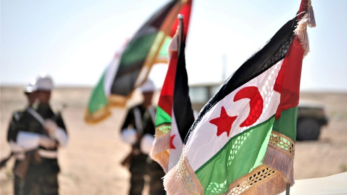Banderas de la República Árabe Saharaui. (Foto: EP, cedida por el Frente Polisario)