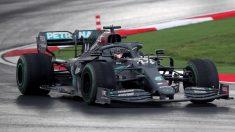 Lewis Hamilton en el Gran Premio de Turquía. (AFP)