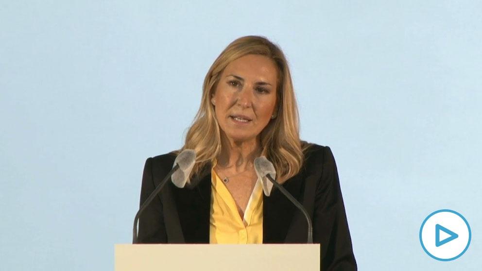 La vicesecretaria de Organización del PP, Ana Beltrán, en su intervención de este domingo. (Imagen: EP)