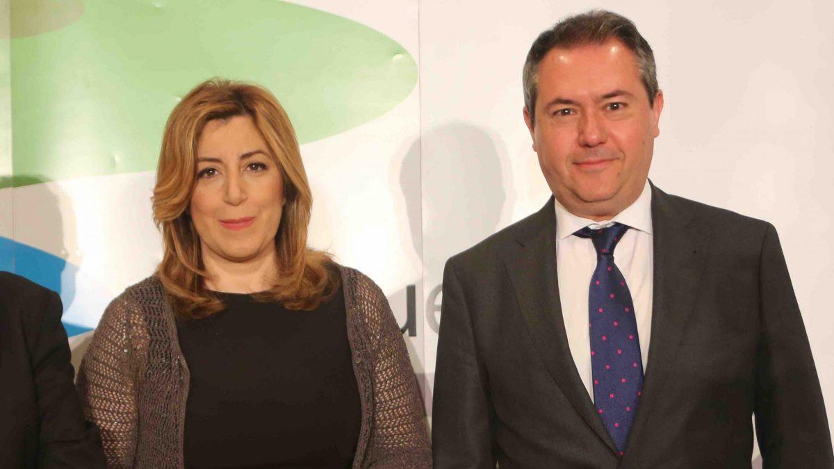 Los socialistas Susana Díaz y Juan Espadas.