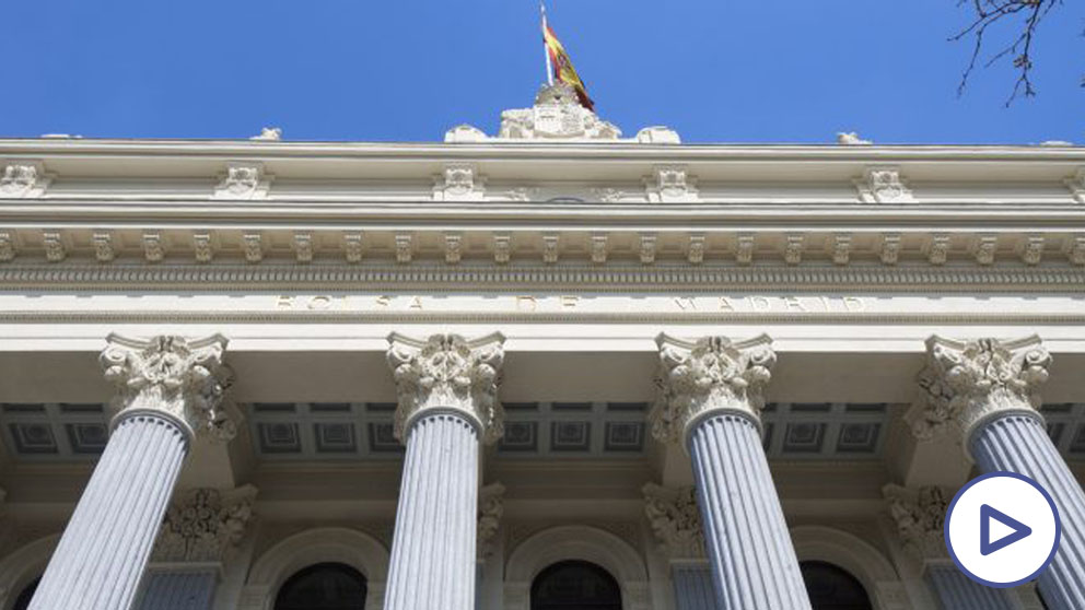 Fachada del Palacio de la Bolsa de Madrid