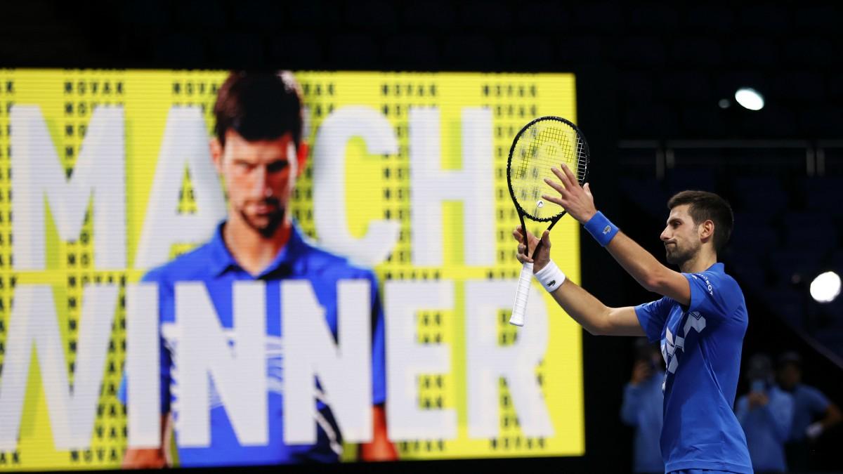 Djokovic celebra su victoria ante Schwartzman. (Getty)
