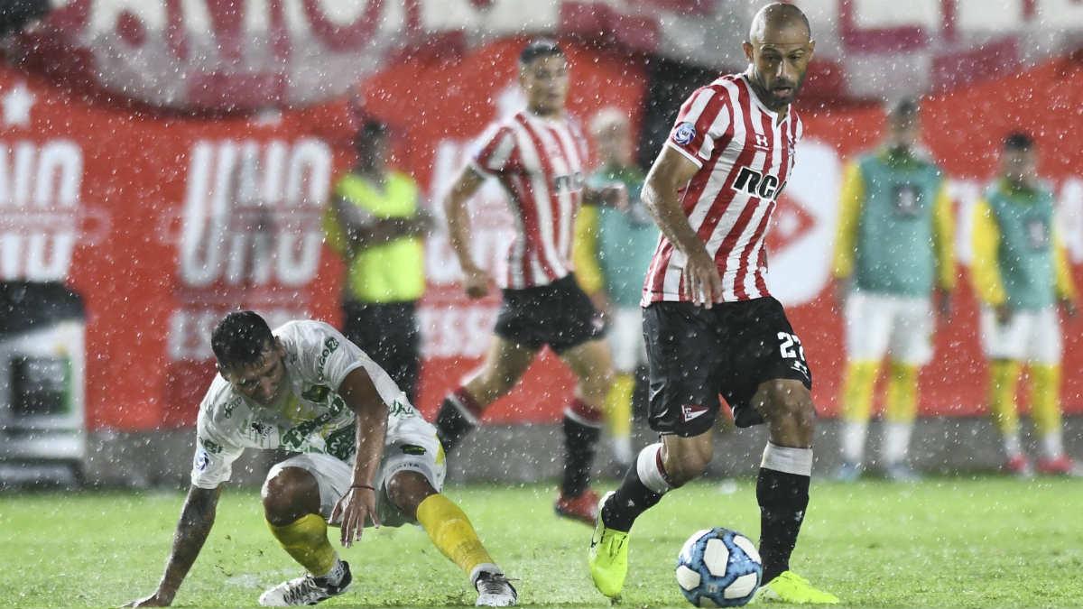 Javier Mascherano, en un partido con Estudiantes de La Plata. (Getty)