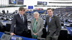Puigdemont, Ponsatí y Comín, en el Parlamento Europeo.