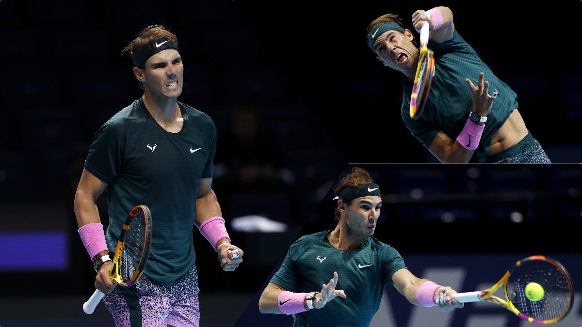 Rafael Nadal, en acción en la Copa Masters. (Getty)