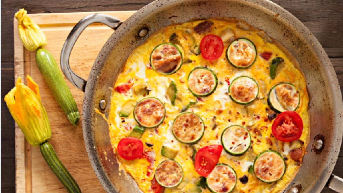 Tortilla de calabacín sin huevo en 5 minutos