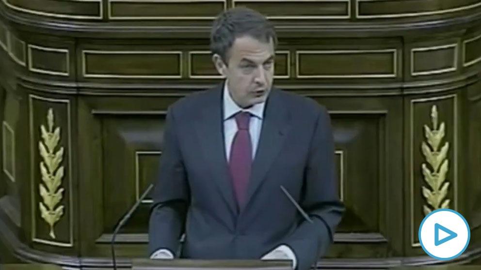 Zapatero anuncia sus recortes, en mayo de 2010.