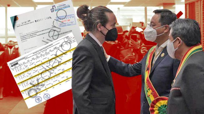 Luis Arce, recién nombrado presidente de Bolivia, y Pablo Iglesias, el día de su toma de posesión en La Paz.