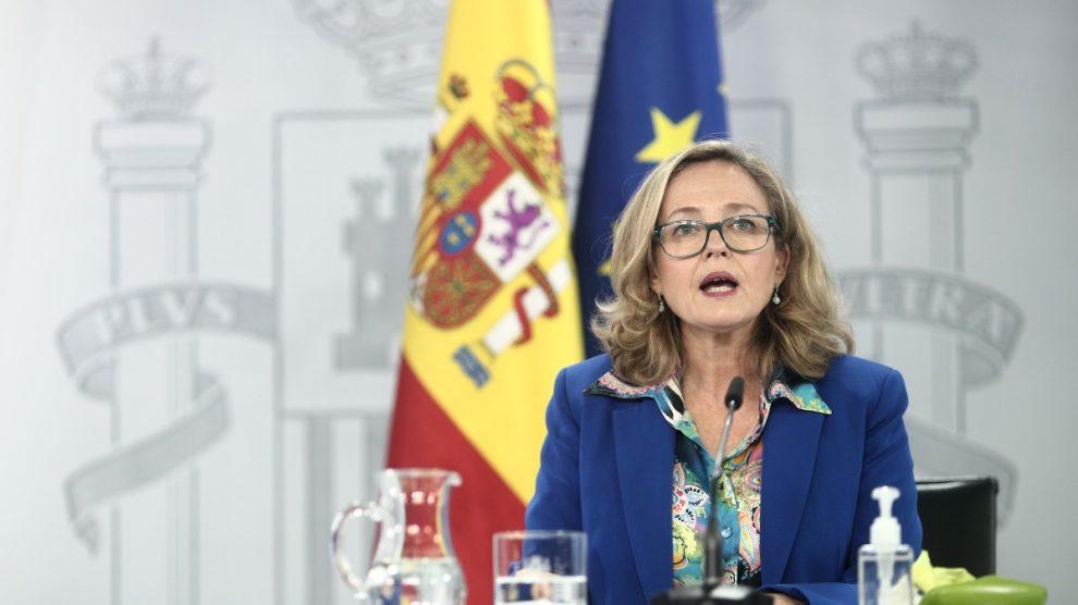 La vicepresidenta y ministra de Asuntos Económicos y Digitalización, Nadia Calviño.