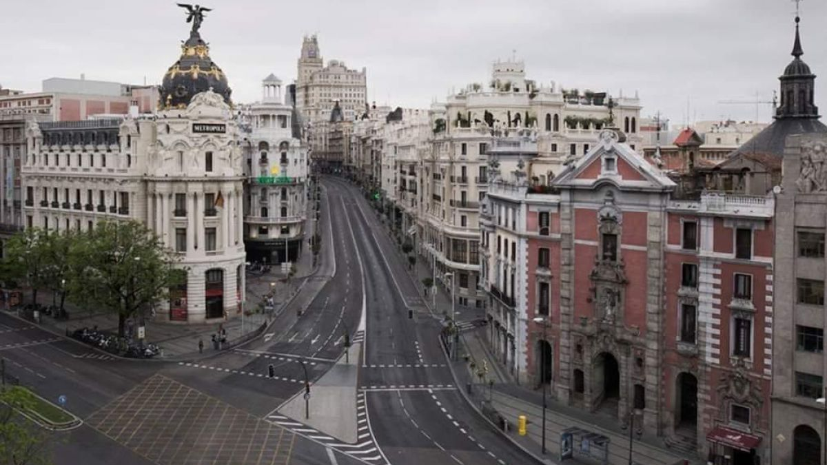 Madrid vacío durante el confinamiento