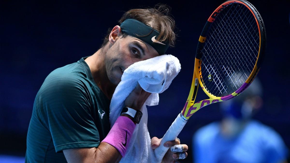 Nadal, en el partido ante Thiem. (AFP)