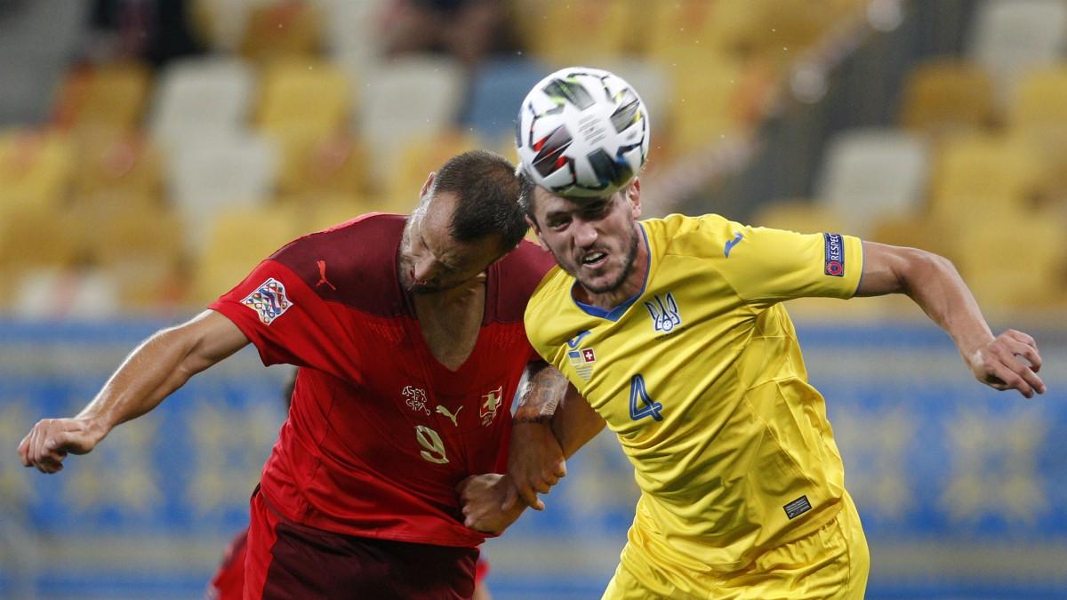 Imagen del Ucrania – Suiza de la Liga de las Naciones. (AFP)