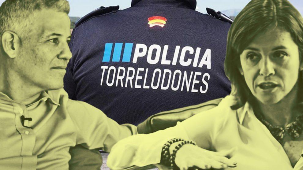 Elena Biurrum y Alfredo García-Plata, actual alcalde de Torrelodones.